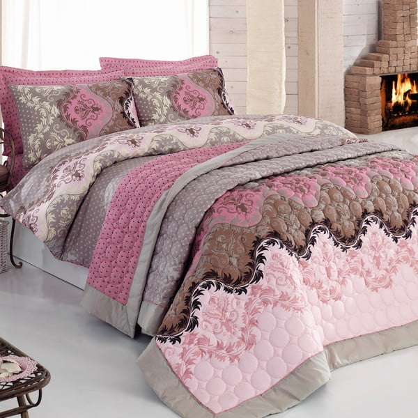 Lenjerie de pat și cuvertură Lida, 200 x 220 cm