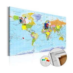Hartă decorativă a lumii Artgeist Orbis Terrarum 90 x 60 cm