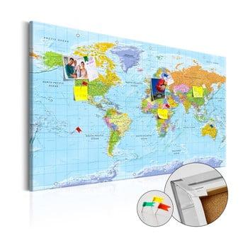 Hartă decorativă a lumii Bimago Orbis Terrarum 90 x 60 cm imagine