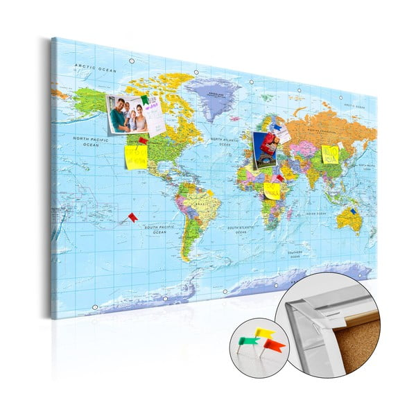 Nástěnka s mapou světa Bimago Orbis Terrarum, 120x80cm