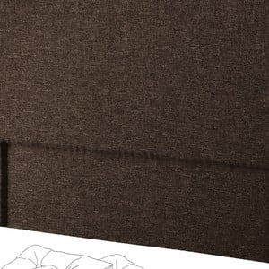 Hnědé čelo postele Novative Valse, 180 x 118 cm