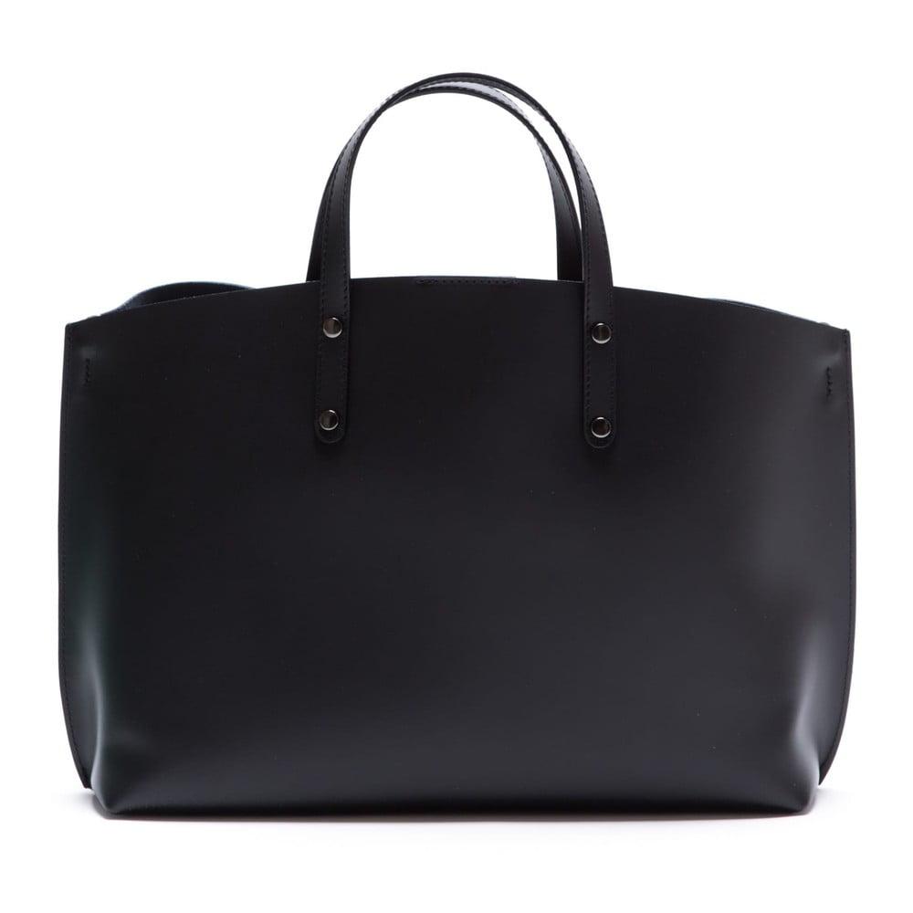 Černá kožená kabelka Luisa Vannini 3034 ... 3deff567d73
