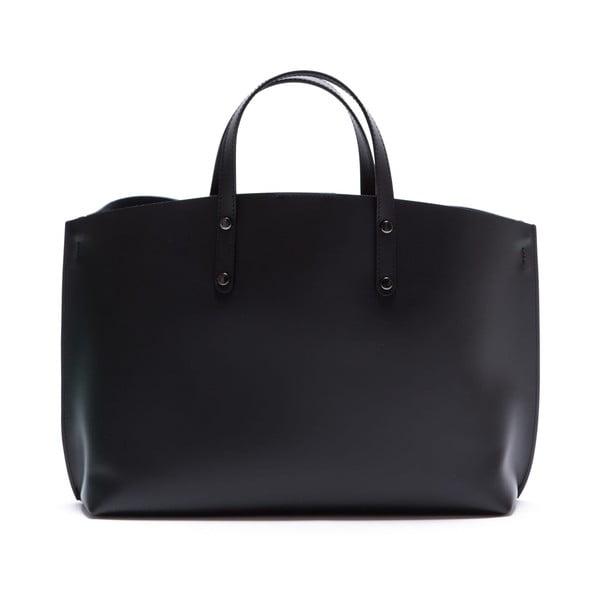 Černá kožená kabelka Luisa Vannini 3034