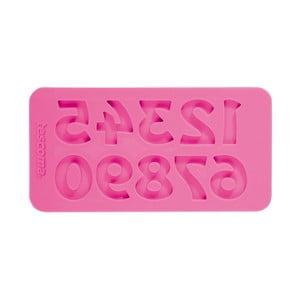 Růžová silikonová formička Tescoma Delícia Deco Retro čísla