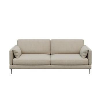 Canapea cu 3 locuri devichy Levie, bej deschis