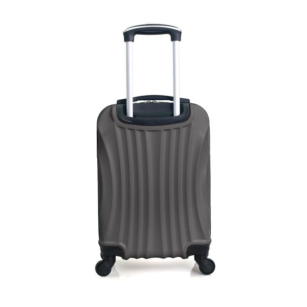 Tmavě šedý cestovní kufr na kolečkách Hero Moscou-e,30l