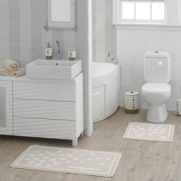 Sada 2 béžových koupelnových předložek Breeze