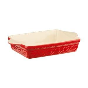 Červená zapékací mísa Premier Housewares Sweet Heart, 20x35cm