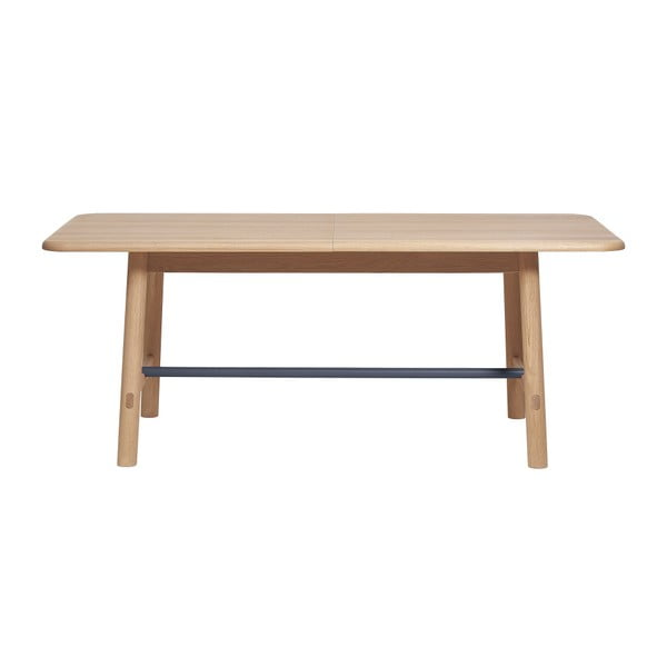 Rozkládací stůl z dubového dřeva s šedou příčkou HARTÔ Helene, šířka190 - 240 cm