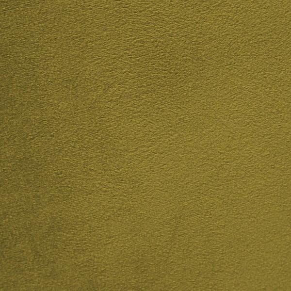 Olivově zelené křeslo a podnožka s podnoží v černé barvě Vivonita Cora Velvet