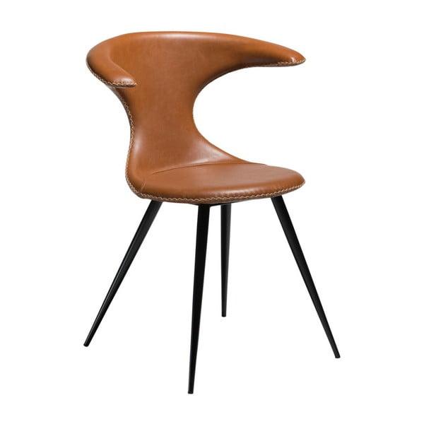 Brązowe krzesło ze skóry ekologicznej DAN-FORM Denmark Flair