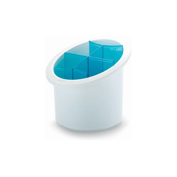 Stojan na příbory Cutlery, modrý