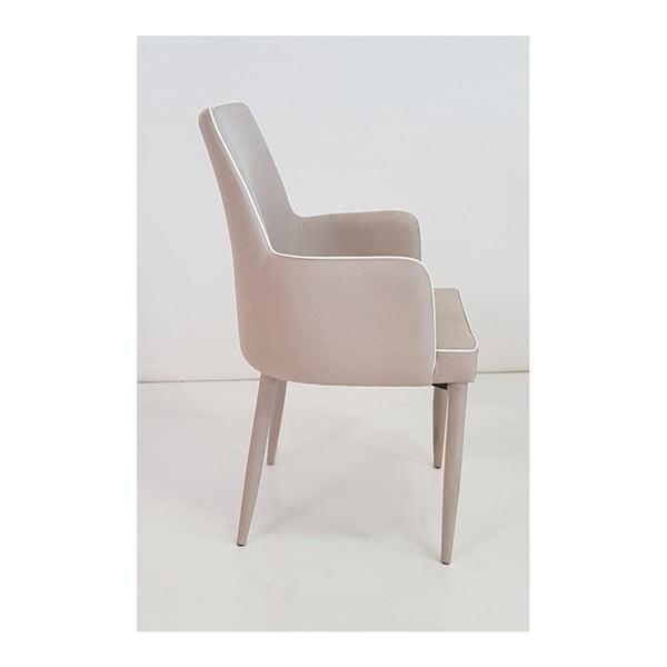 Béžová jídelní židle s područkami Castagnetti Ine