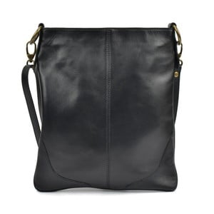 Černá kožená kabelka Mangotti Duro Misma