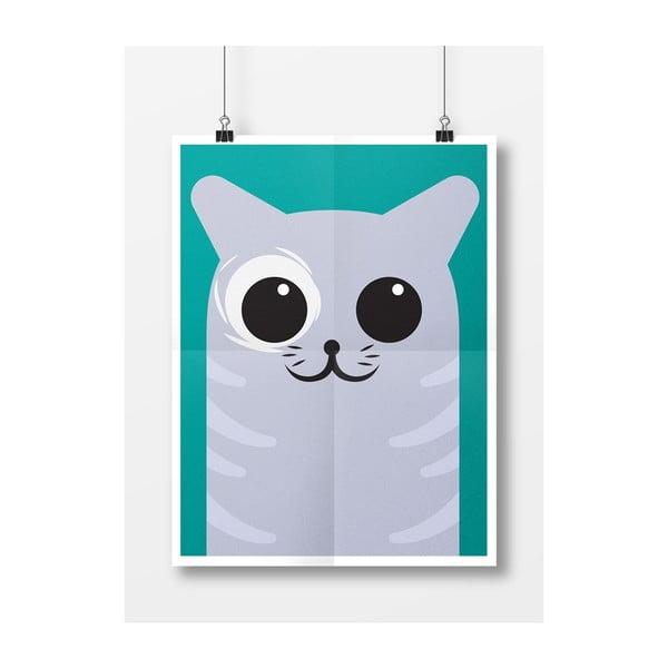 Plakát Kočka Šedá, A3