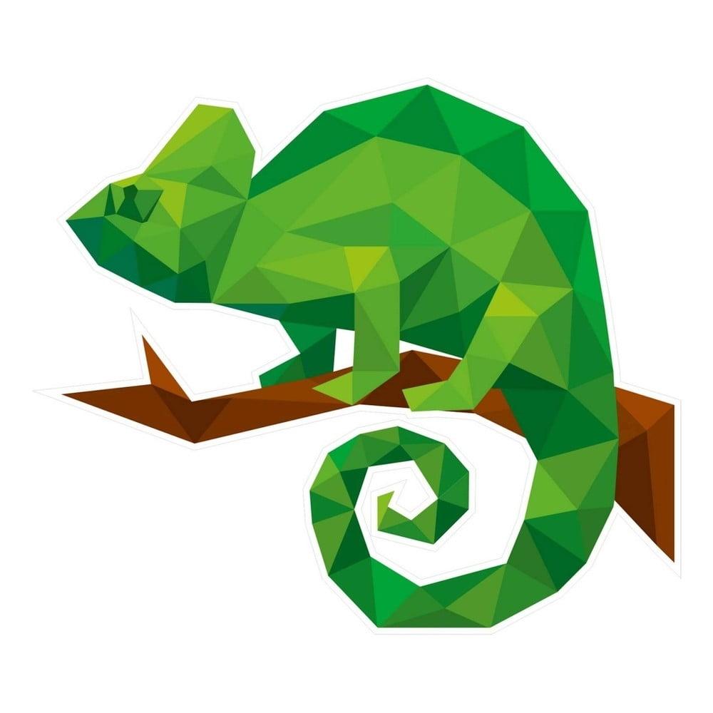 Nástěnná samolepka s geometrickým provedením Chameleon