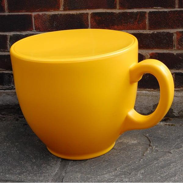 Židle Tea Cup, žlutá