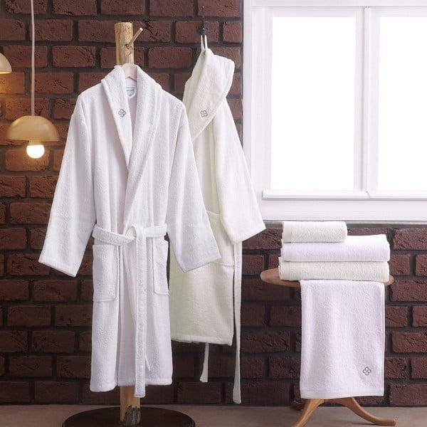 Set 2 županů a 4 ručníků z bavlny Ollin