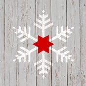 Set 10 șervețele din hârtie cu motive de Crăciun PPD Snowflake On Wood