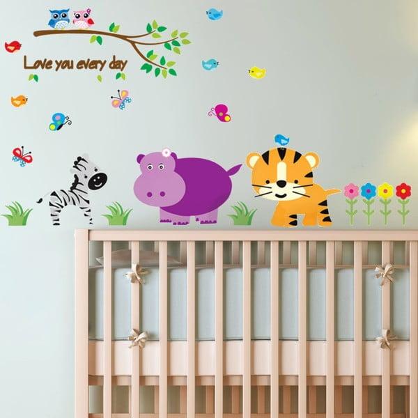 Samolepka na zeď Dětská džungle, 90x60 cm