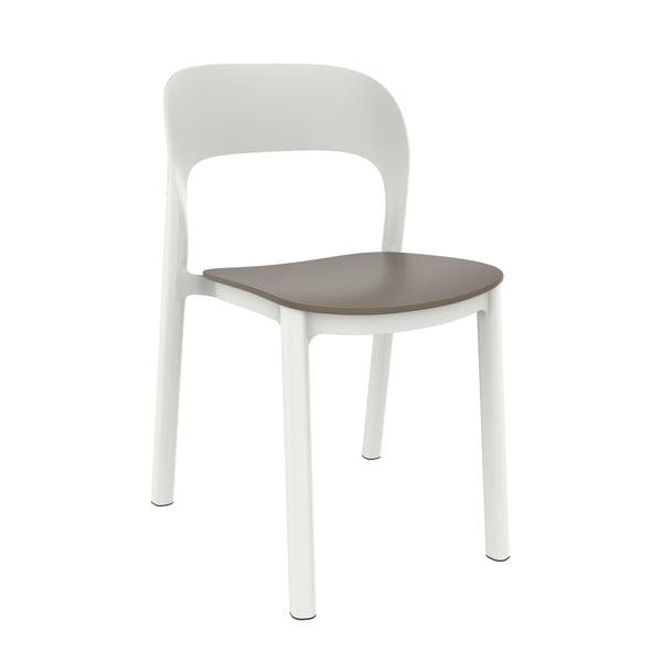 Set 4 scaune de grădină cu șezut maro Resol Ona, alb