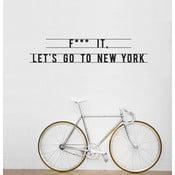 Samolepka Let's Go To New York