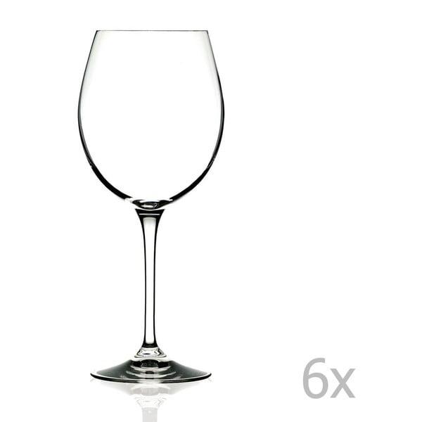 Romilda 6 db-os borospohár készlet, 650 ml - RCR Cristalleria Italiana