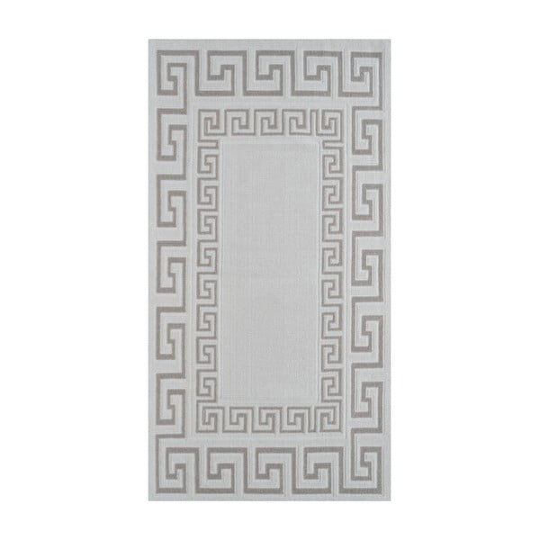 Covor din bumbac Vitaus Versace, 80 x 200 cm, taupe