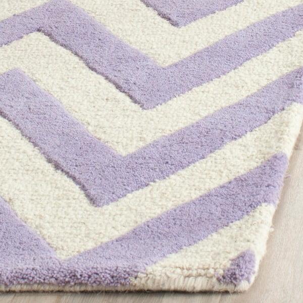 Vlněný koberec Stella Light Purple, 76x243 cm