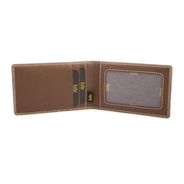 Kožené pouzdro na vizitky Lois Brown, 7x11 cm