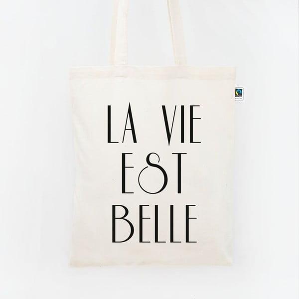 Plátěná taška La vie est belle