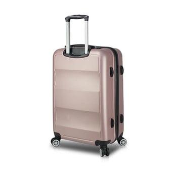 Valiză cu roți și port USB My Valice COLORS LASSO Medium, roz de la Myvalice