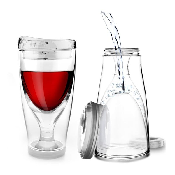 Termoska Ice Vino 2GO, průhledná