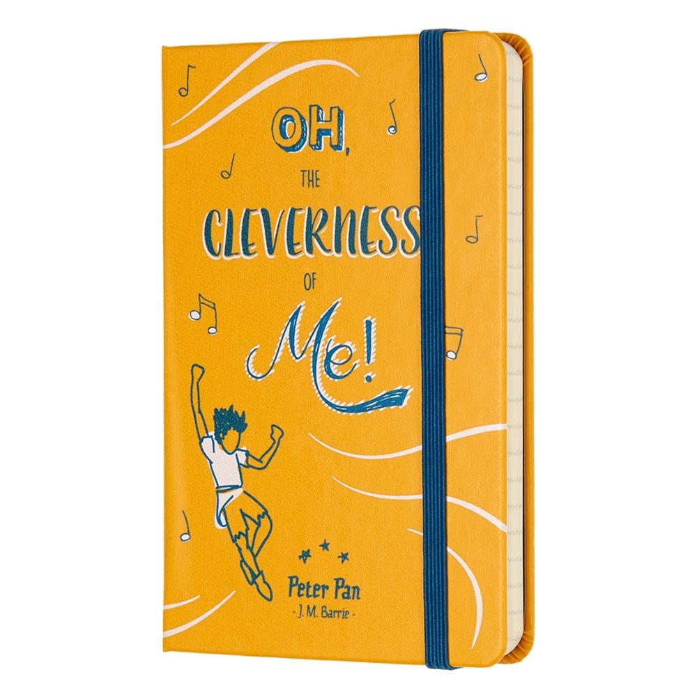 Žlutý linkovaný zápisník v pevné vazbě Moleskine Peter Pan, 192 stran