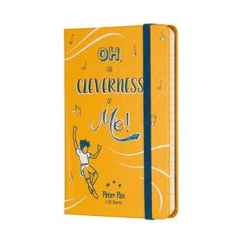 Caiet Moleskine Peter Pan, 192 pag., hârtie dictando, copertă rezistentă, galben