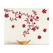Samolepka na zeď Vášnivé květiny