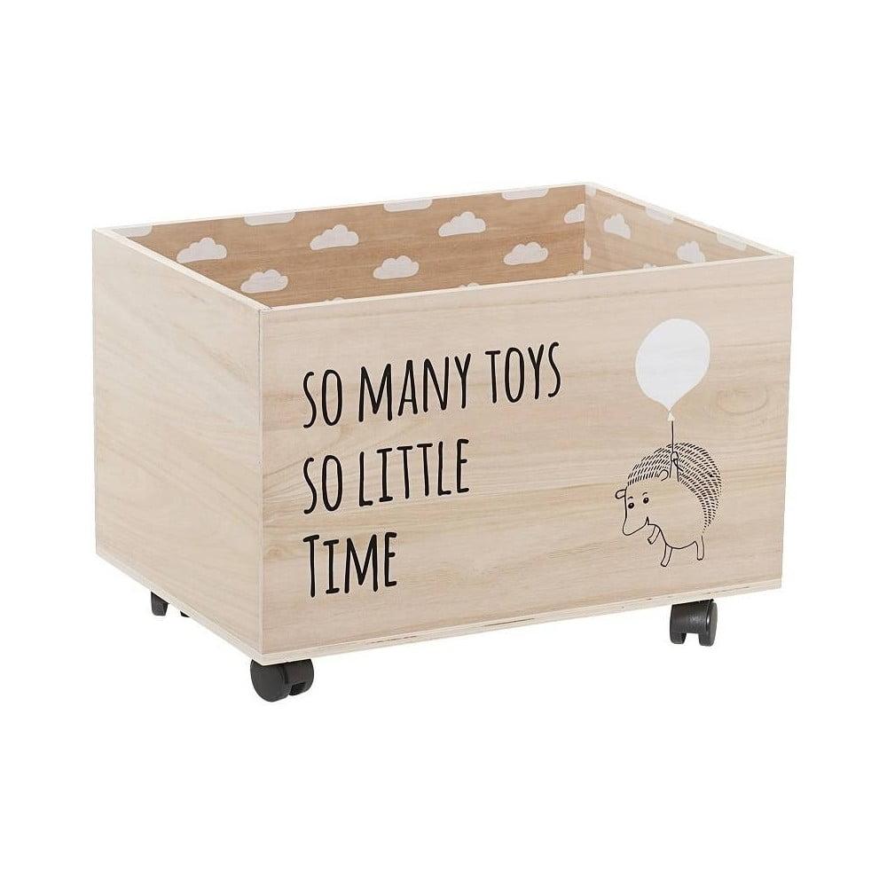 Dřevěný úložný box na hračky na kolečkách Bloomingville Storage Box