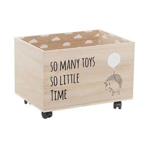 Cutie din lemn pe roți pentru depozitarea jucăriilor Bloomingville Storage Box