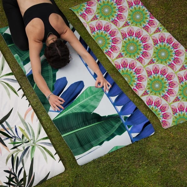 Saltea de yoga Really Nice Things Palms, 60 x 185 cm