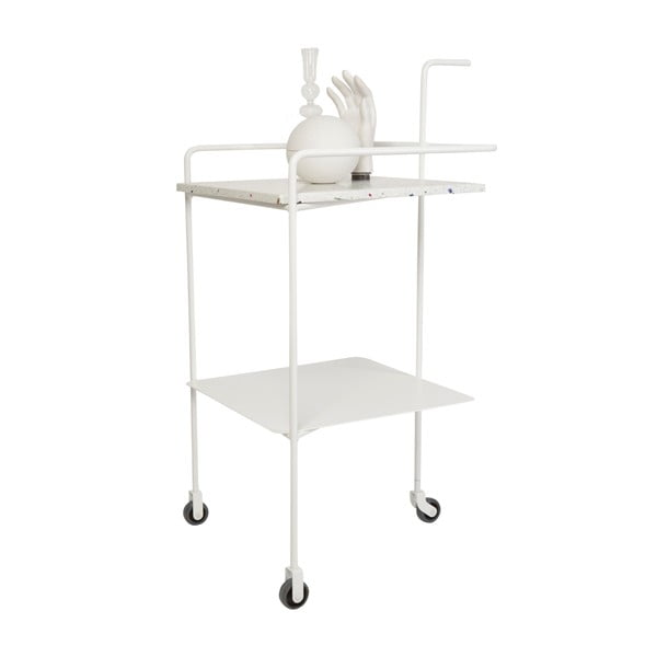 Servírovací stolek Trolley Confetti, bílý