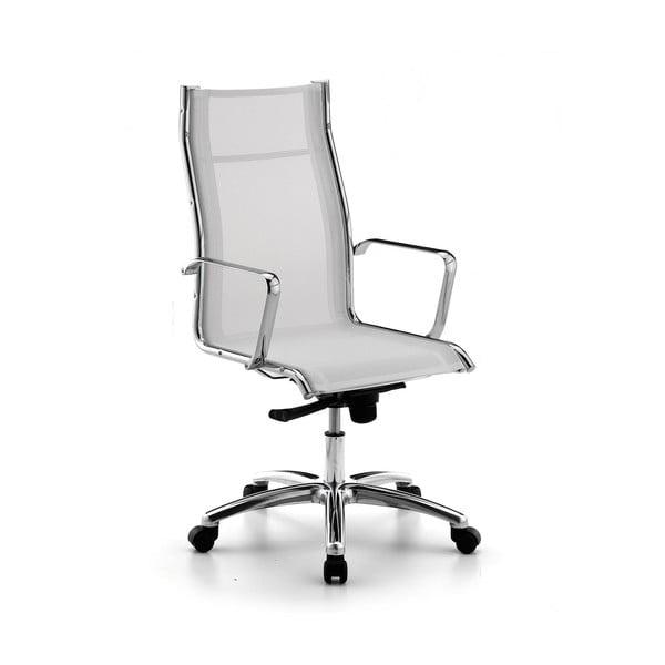 Bílá kancelářská židle s kolečky Zago High Chrono