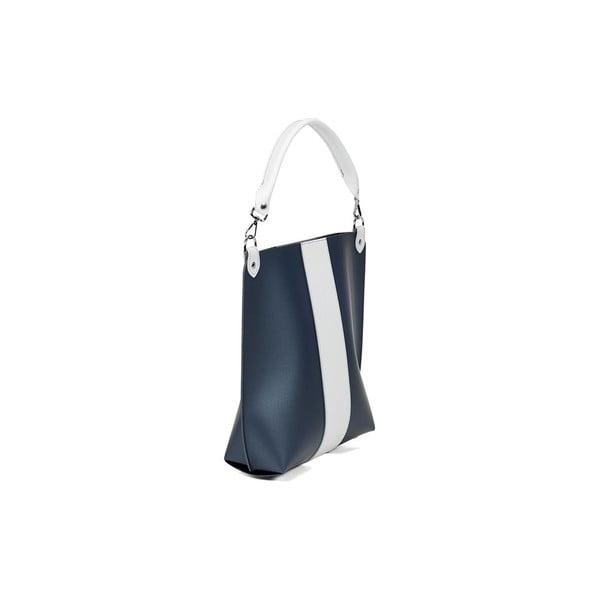 Kožená kabelka Alice Line Blue/White