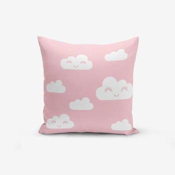 Față de pernă cu amestec din bumbac Minimalist Cushion Covers Pink Background Cloud, 45 x 45 cm de la Minimalist Cushion Covers