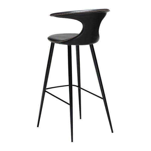 Černá barová židle s koženkovým sedákem DAN-FORM Denmark Flair