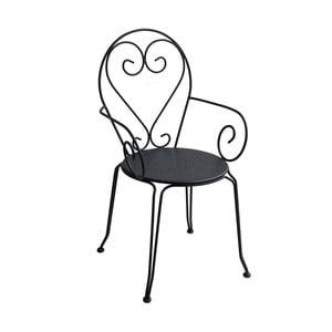 Antracitově šedá zahradní židle Ina