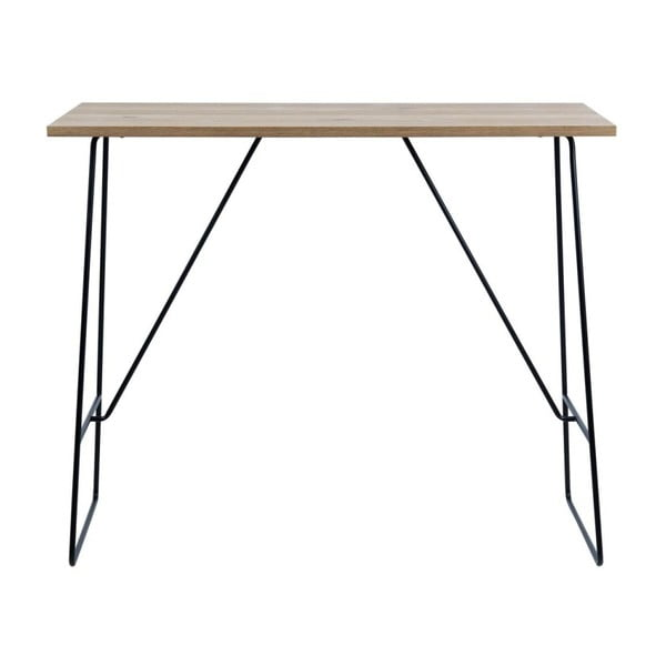 Czarno-brązowy stolik barowy Actona Lisa