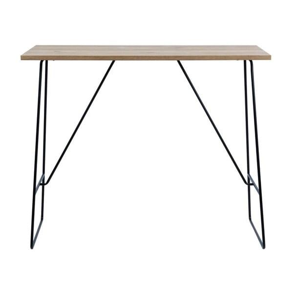 Černo-hnědý barový stolek Actona Lisa