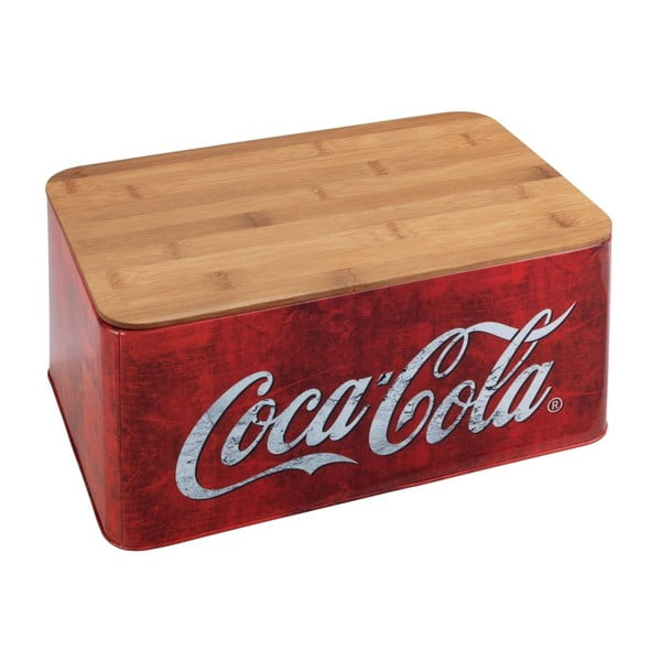 Cutie pâine cu capac din bambus Wenko Coca-Cola World, roșu