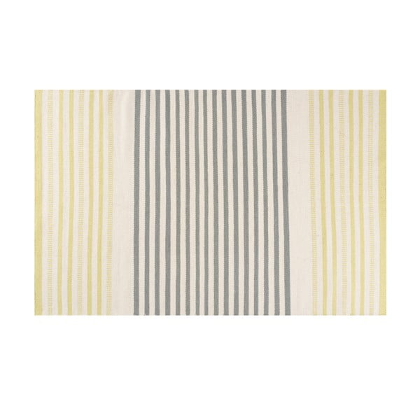 Ručně tkaný vlněný koberec Story Lime, 170x240cm