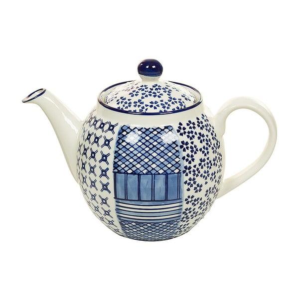 Ceainic din porțelan Santiago Pons Meknec, alb - albastru